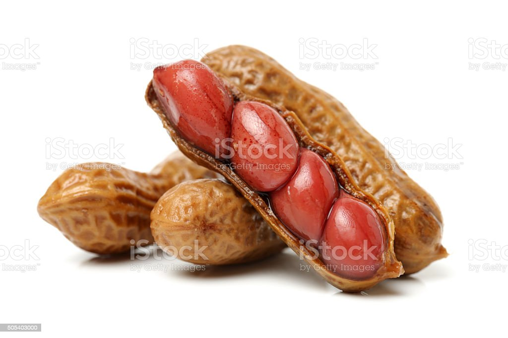 Boiled peanut stock photo