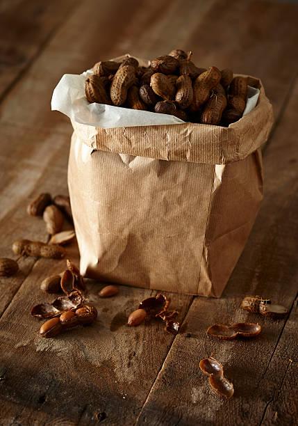 Boiled Peanuts stock photo
