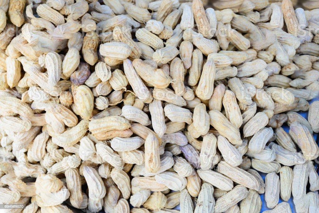 Boiled peanuts. stock photo