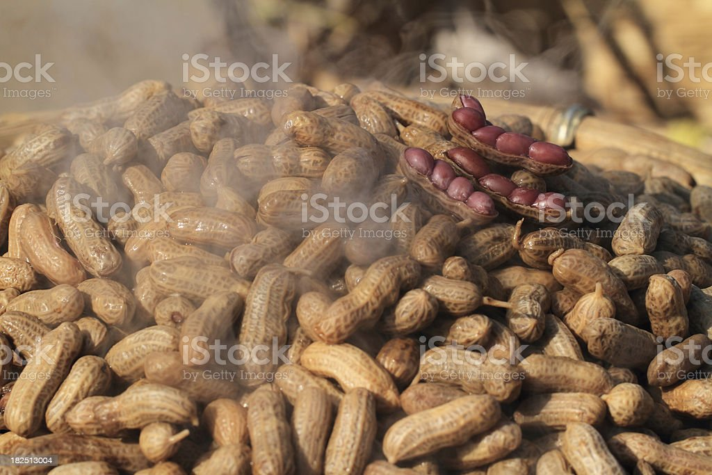 Boiled peanuts with salt royalty-free stock photo