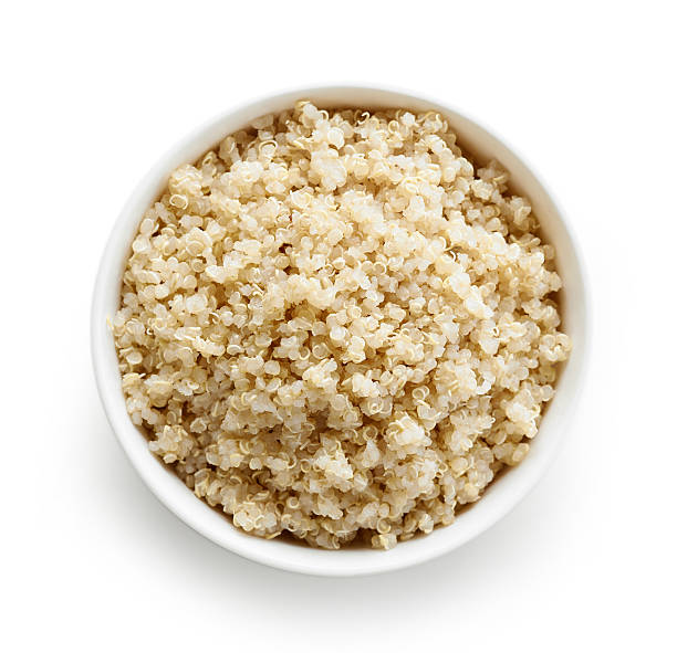 boiled quinoa seeds - quinoa stock photos and pictures