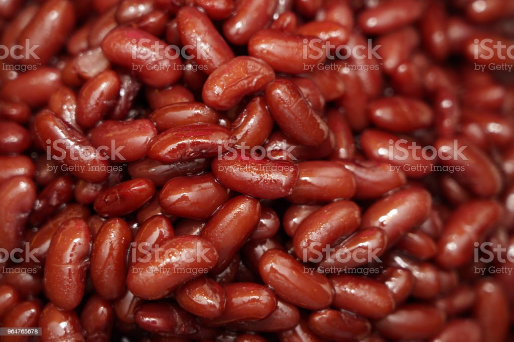 Boiled red bean syrup for thai dessert royalty-free stock photo