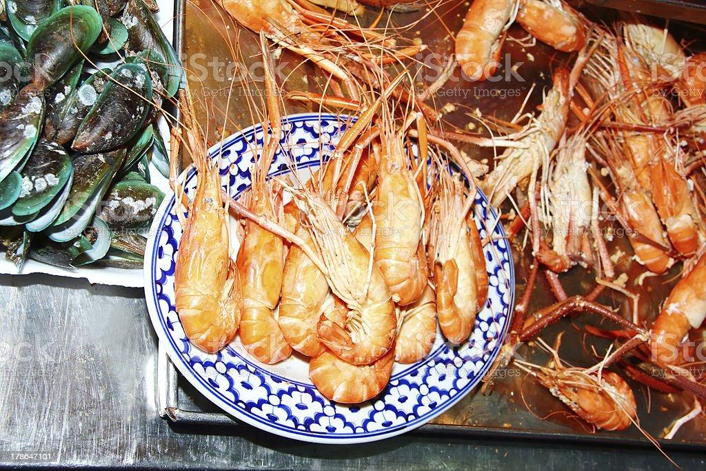 Boiled shrimp royalty-free stock photo