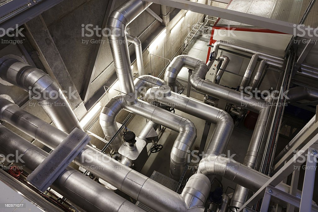 Boiler and pipelines royalty-free stock photo
