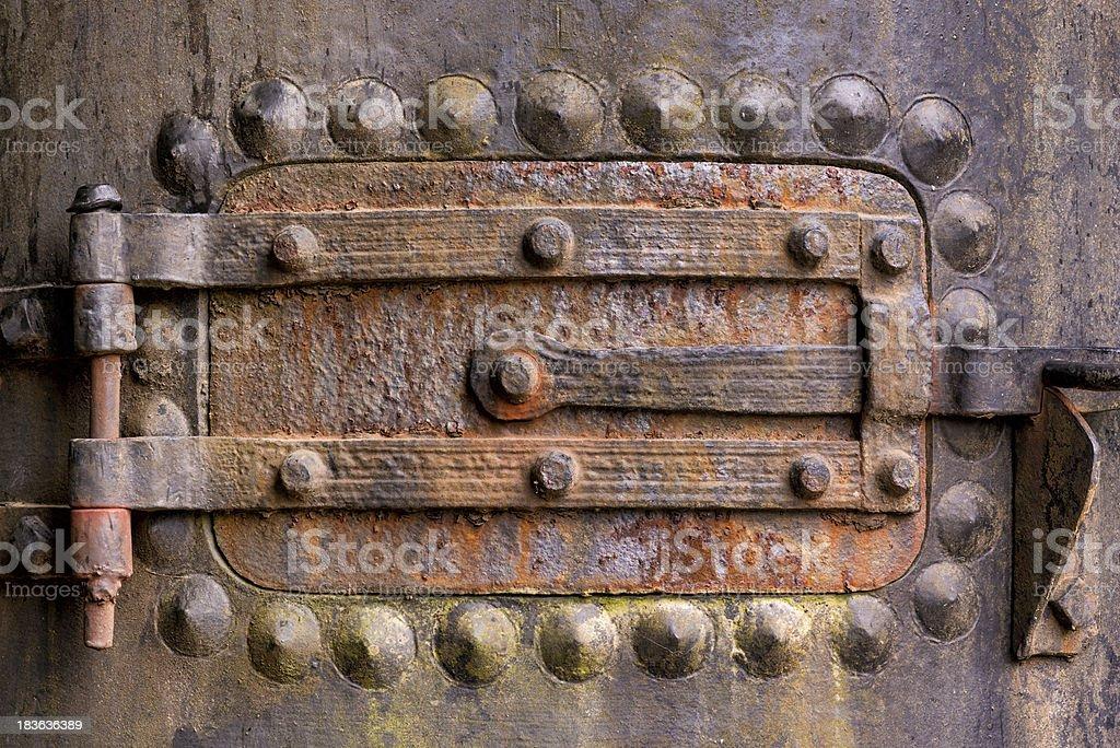 Boiler door royalty-free stock photo