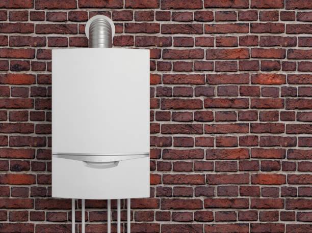 heizkessel gas heizung wasser - heißes wasser stock-fotos und bilder