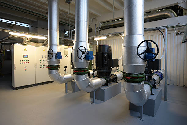 boiler house - cogeneration plant stock photos and pictures