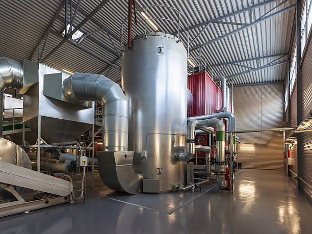 boiler - cogeneration plant stock photos and pictures