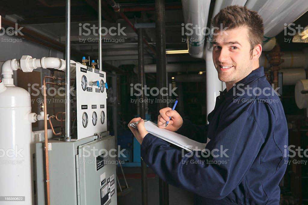 Boiler Room - Data View Smile royalty-free stock photo