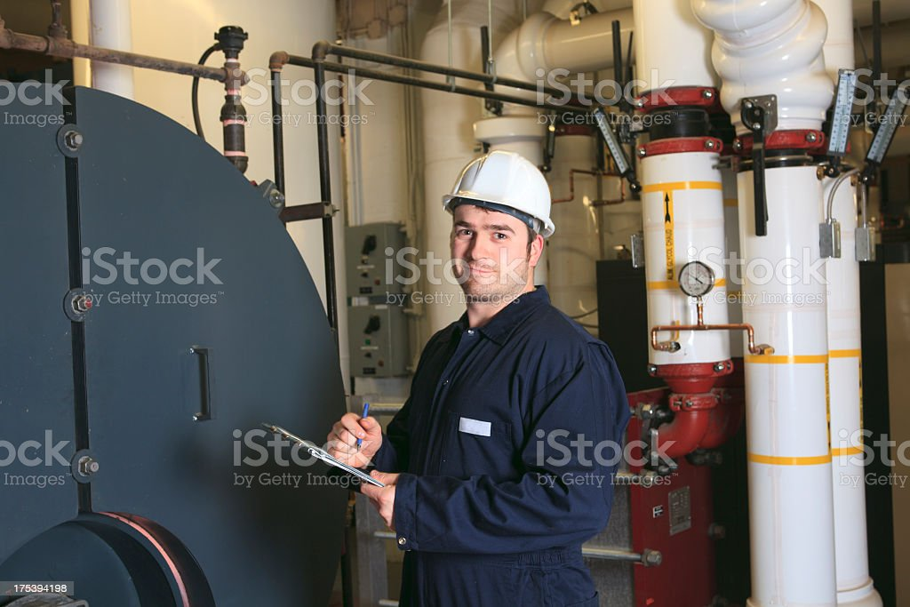 Boiler Room - Great Worker royalty-free stock photo