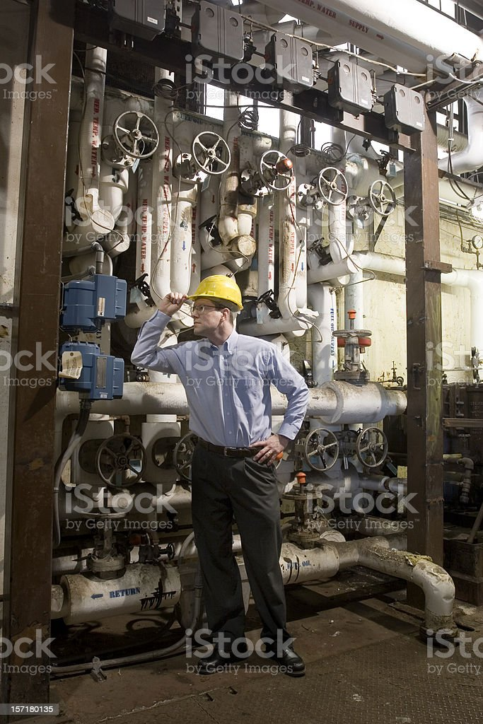 Boiler room inspection royalty-free stock photo