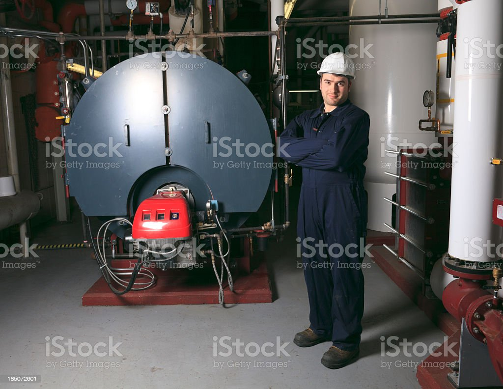 Boiler Room - Personnel royalty-free stock photo