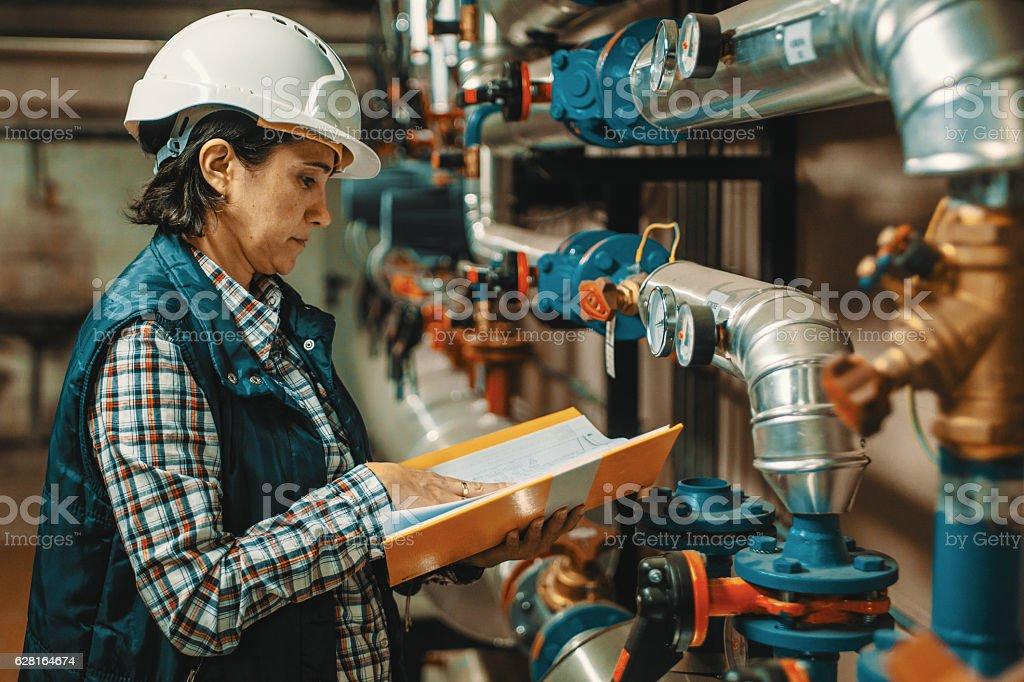 boiler room stock photo