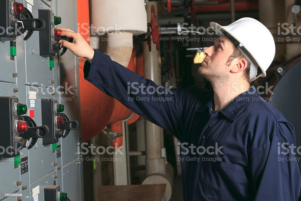Boiler Room - Switch royalty-free stock photo