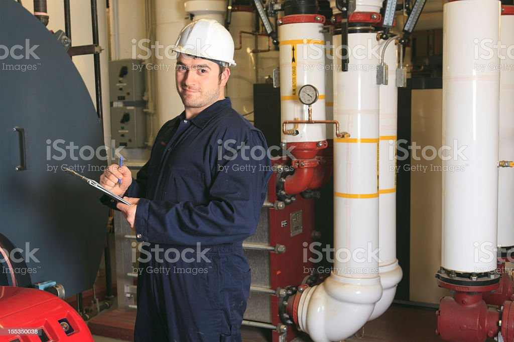 Boiler Room - Taking Note royalty-free stock photo