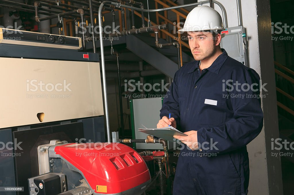 Boiler Room - Taking Some Note royalty-free stock photo