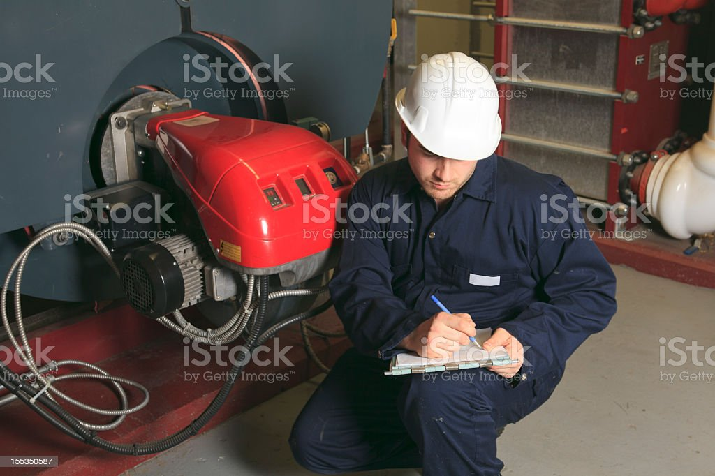 Boiler Room - Write Note royalty-free stock photo