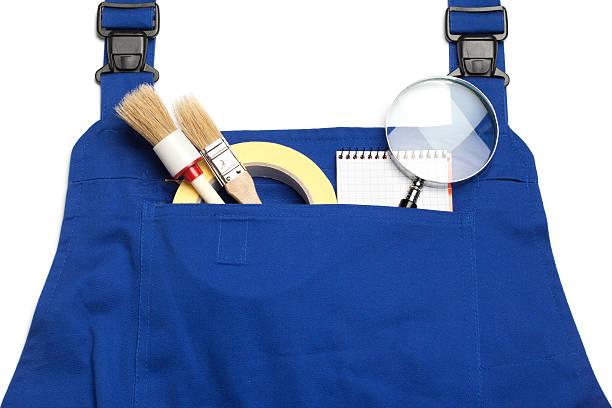 boiler suit, der suche nach einem praktischen mann - maler gesucht stock-fotos und bilder
