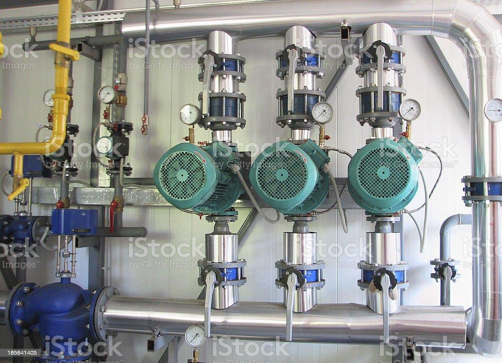boiler-house equipment royalty-free stock photo