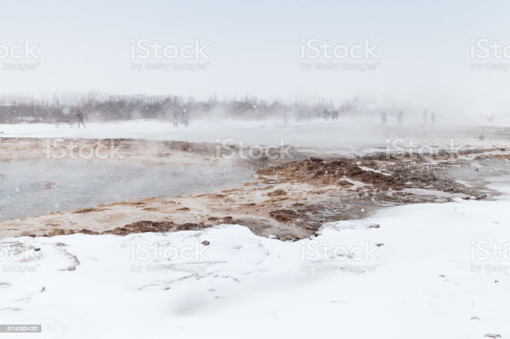 Boiling geysers in southwestern Iceland royalty-free stock photo