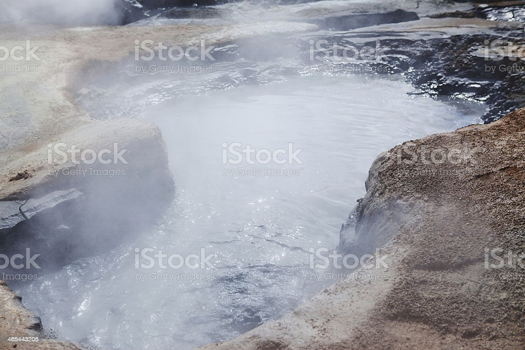 Boiling Mud Pits - Hverir Hot Springs, Iceland royalty-free stock photo