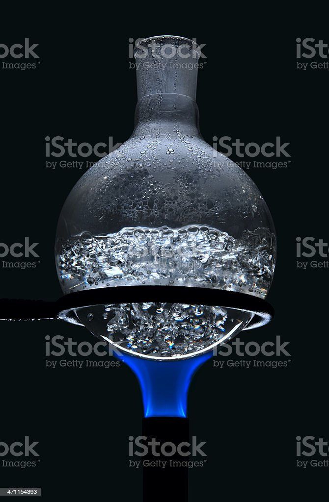 Boiling Round Bottom Flask stock photo