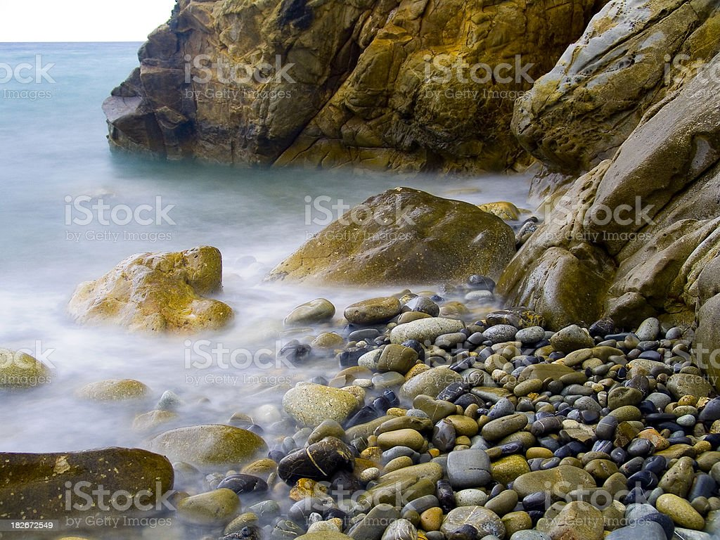 Boiling shore royalty-free stock photo