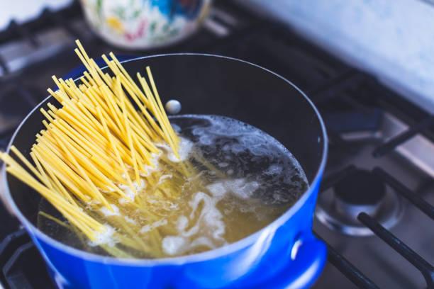 Boiling Spaghetti Pasta stock photo