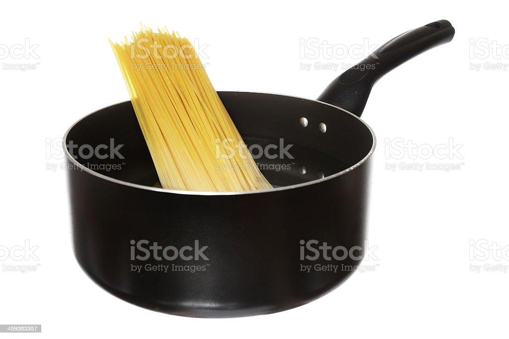 boiling spaghetti royalty-free stock photo