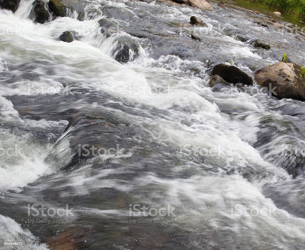 Boiling stream flow stock photo