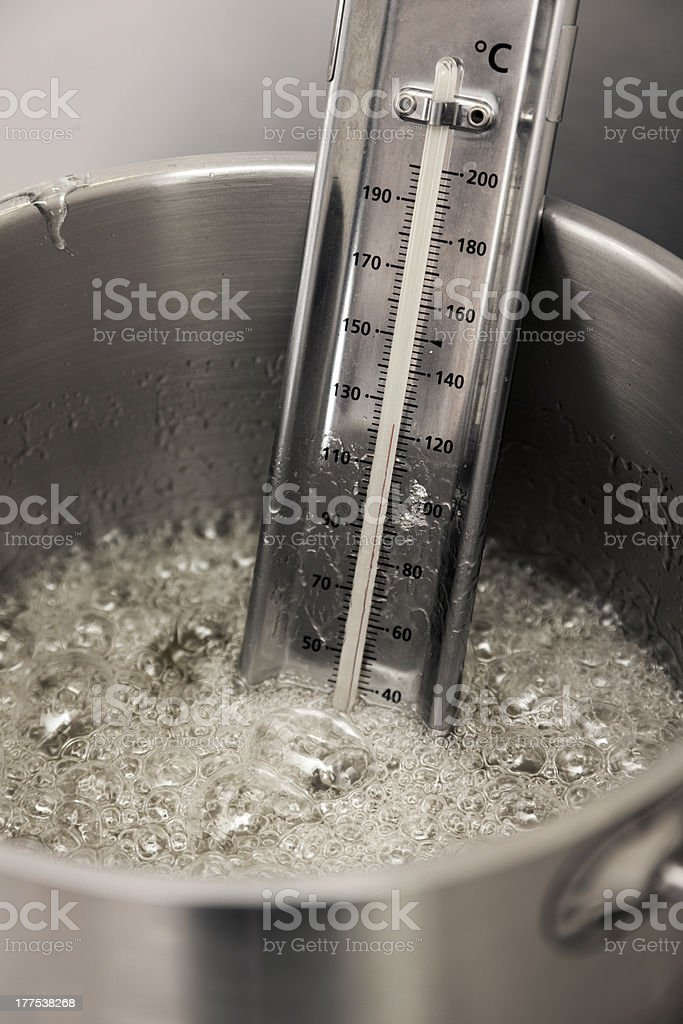 boiling syrup royalty-free stock photo