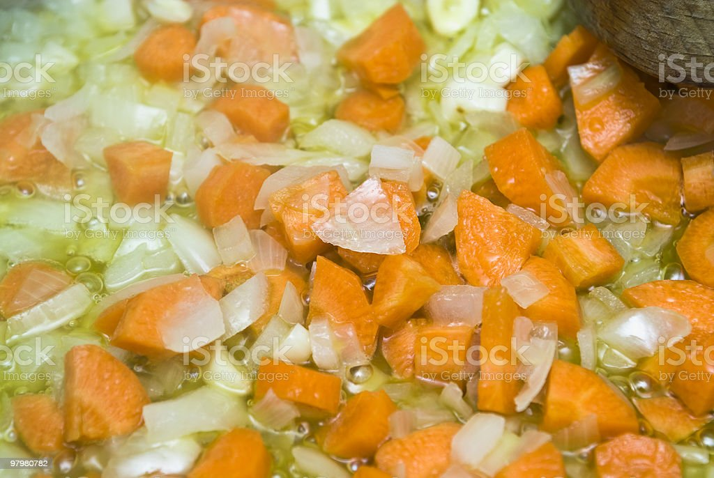 boiling vegetables royalty-free stock photo