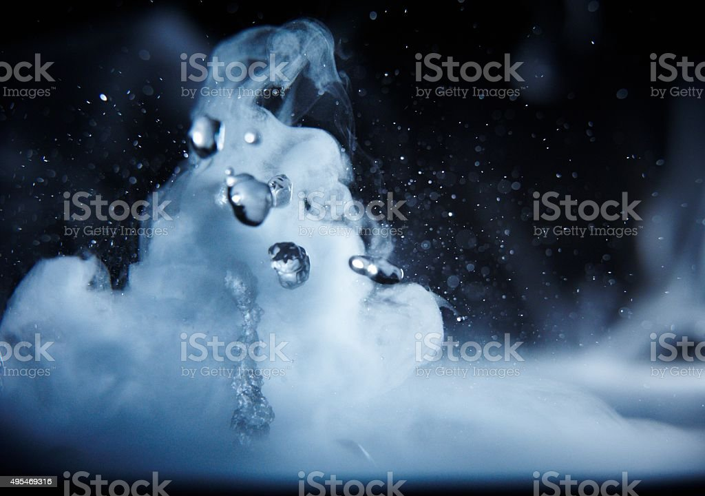 boiling water close up stock photo