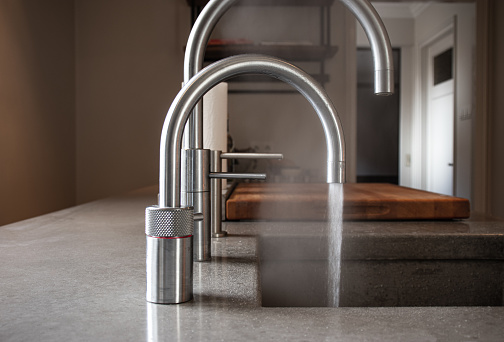 boiling water tap in kitchen