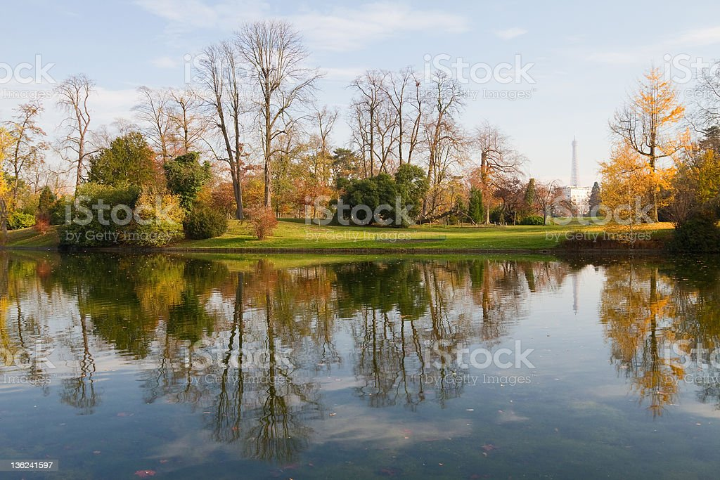 Bois De Boulogne, Paris stock photo