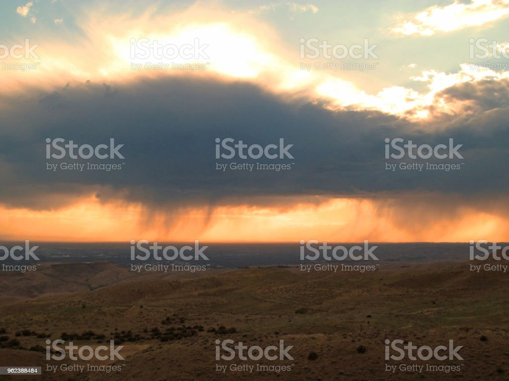 Boise after storm. stock photo