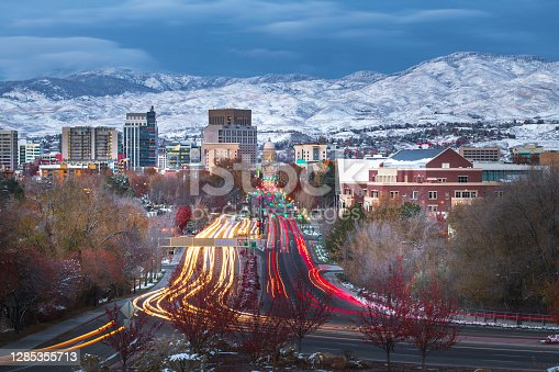istock Boise Downtown at dusk, The State Capital of Idaho 1285355713