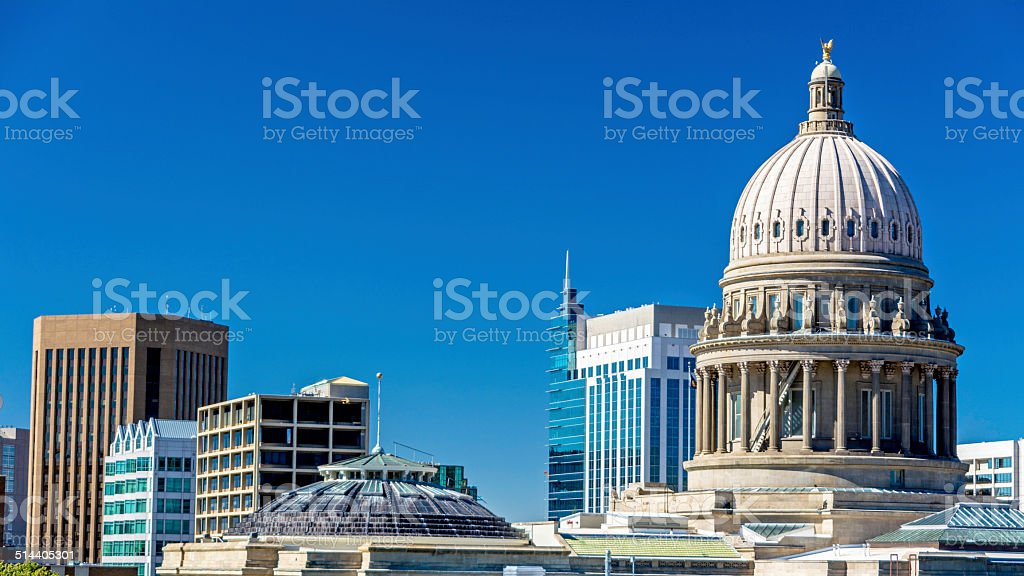 Boise Idaho city skyline stock photo