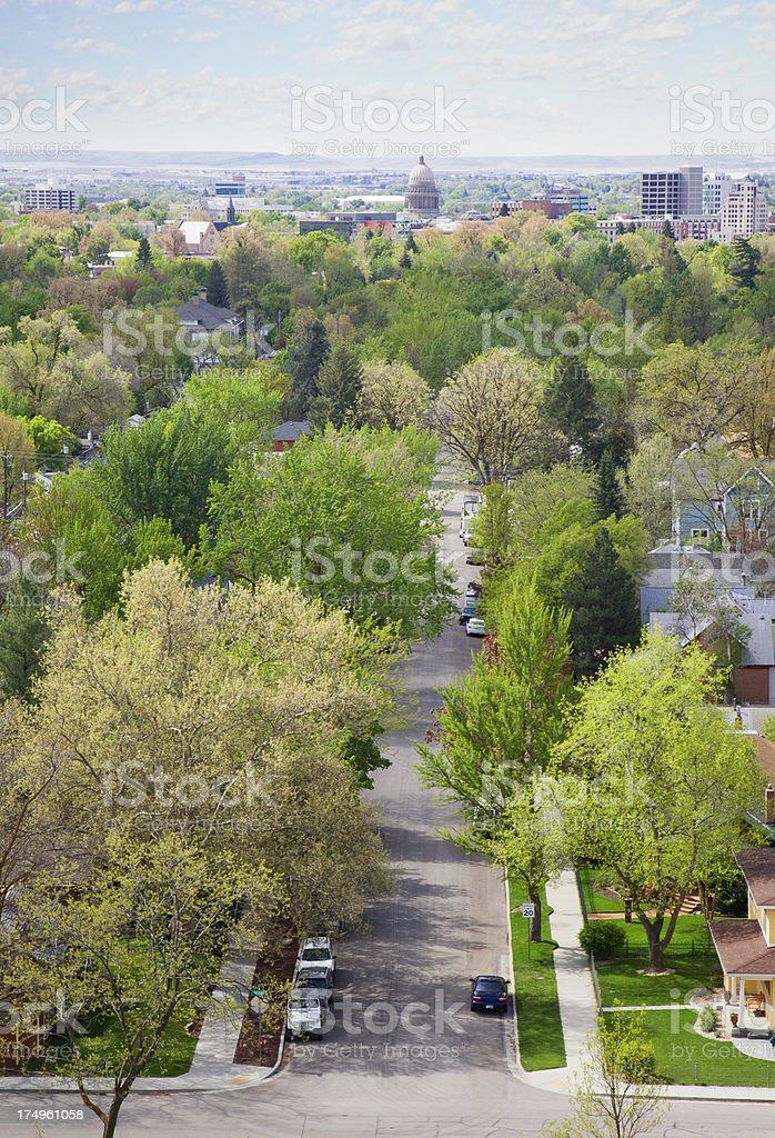 Boise, Idaho Skyline royalty-free stock photo