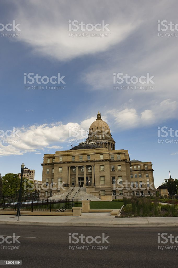 Boise Idaho State Capitol with Clouds royalty-free stock photo