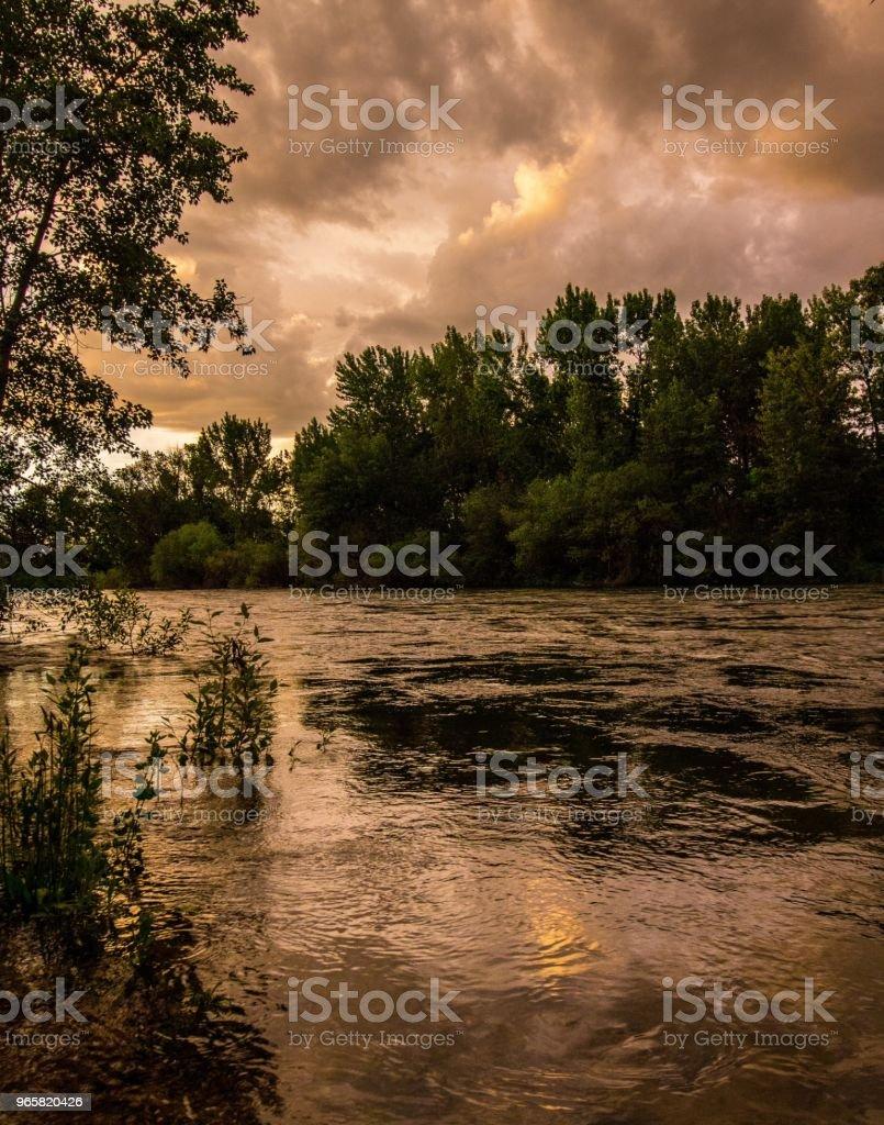 Boise River Dusk - Royalty-free Anoitecer Foto de stock