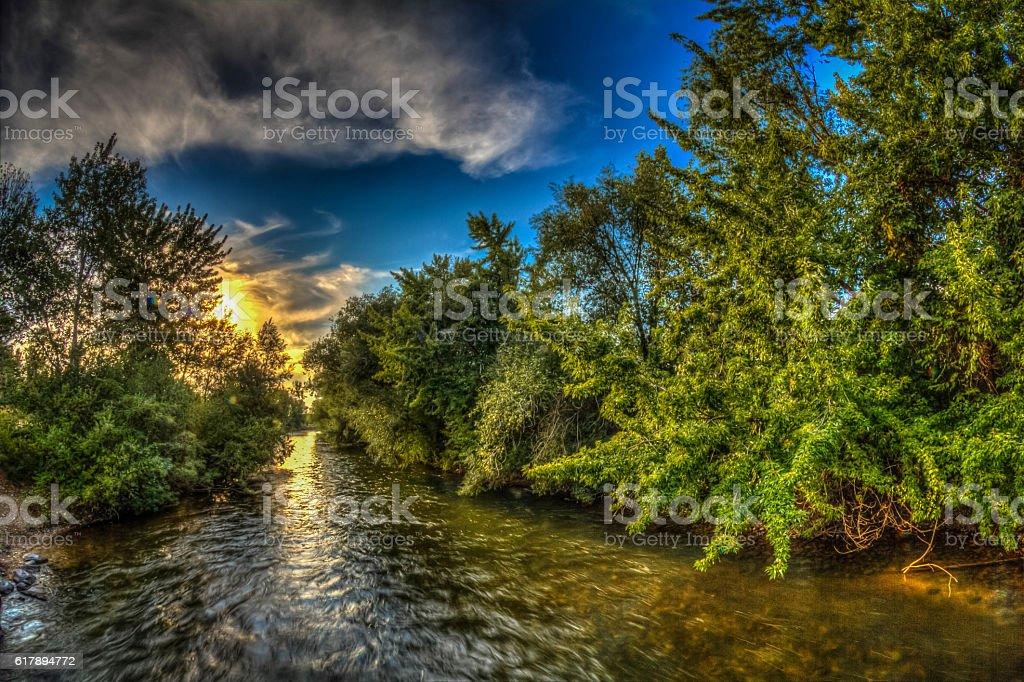 Boise River Greenbelt stock photo