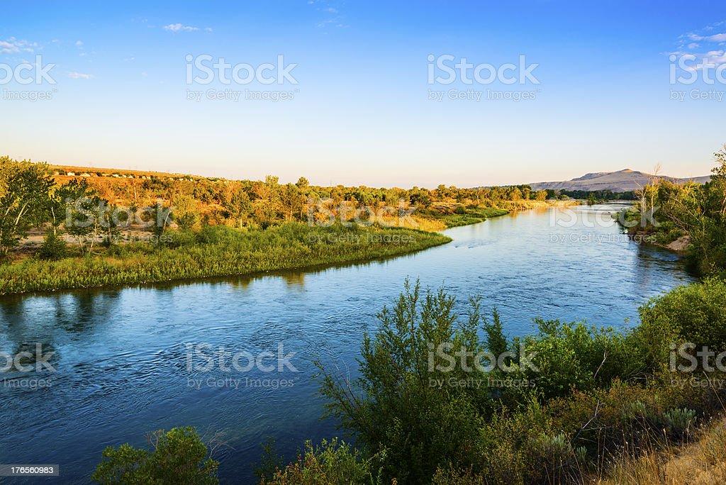 Boise River, Idaho stock photo