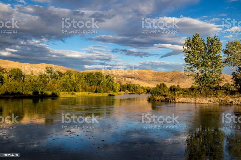 Boise River, in Boise, Idaho stock photo