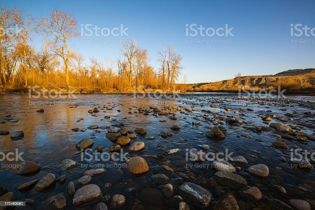 Boise River morning stock photo