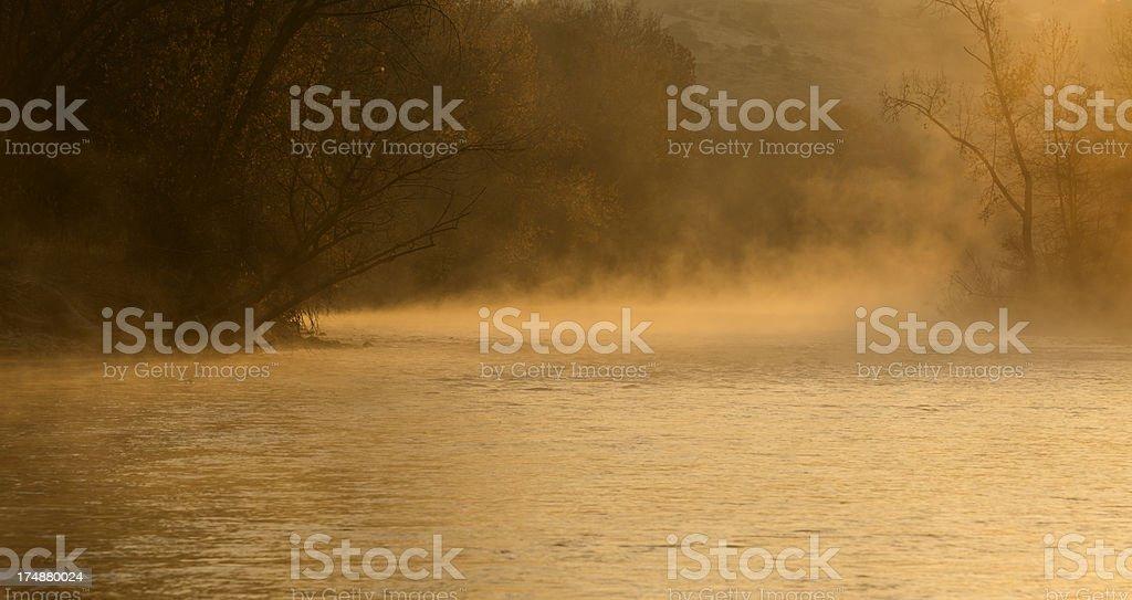 Boise River sunrise royalty-free stock photo