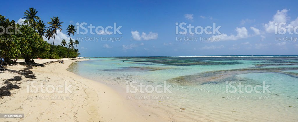 Plage de Bois-Jolan in Sainte-Anne, Guadeloupe stock photo