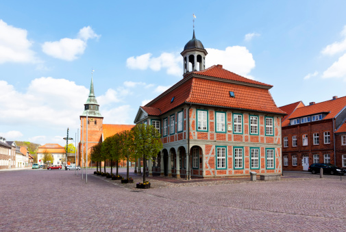 Boizenburg, town hall and St. Marien church