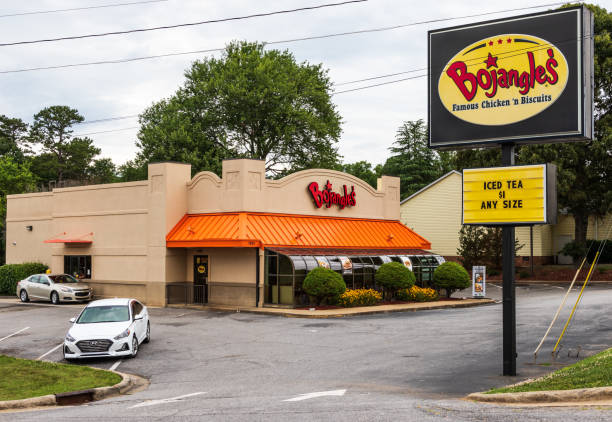 Bojangles storefront & sign stock photo