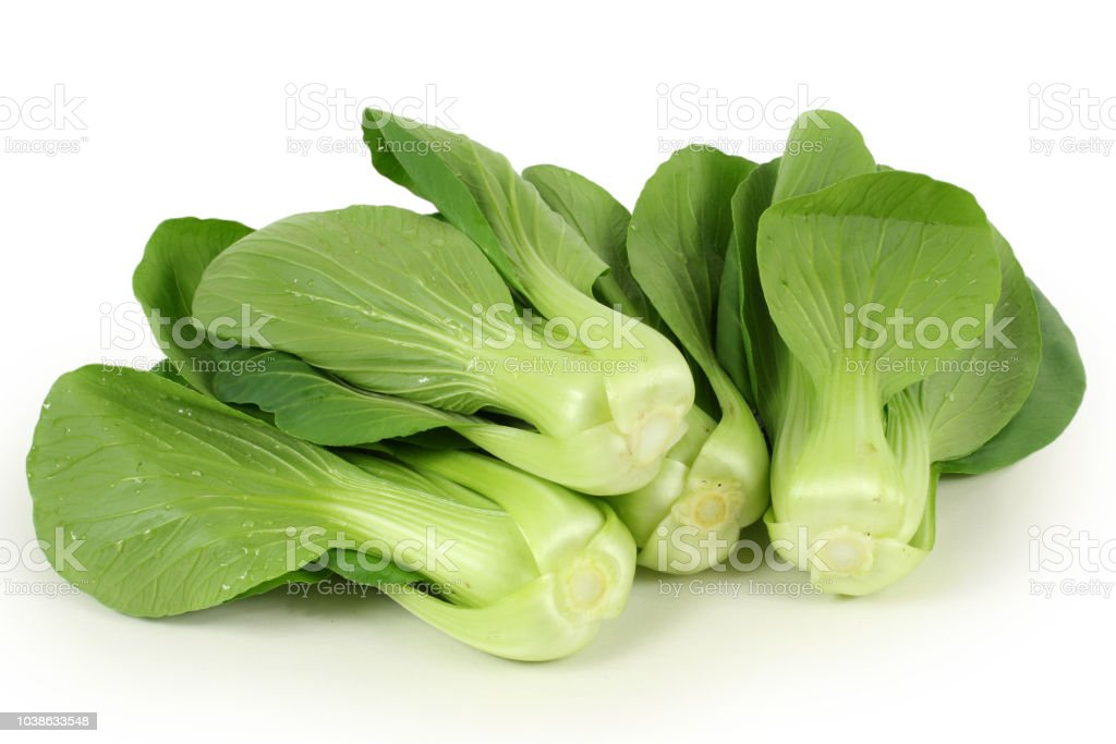 Bok choy isolated on white background stock photo